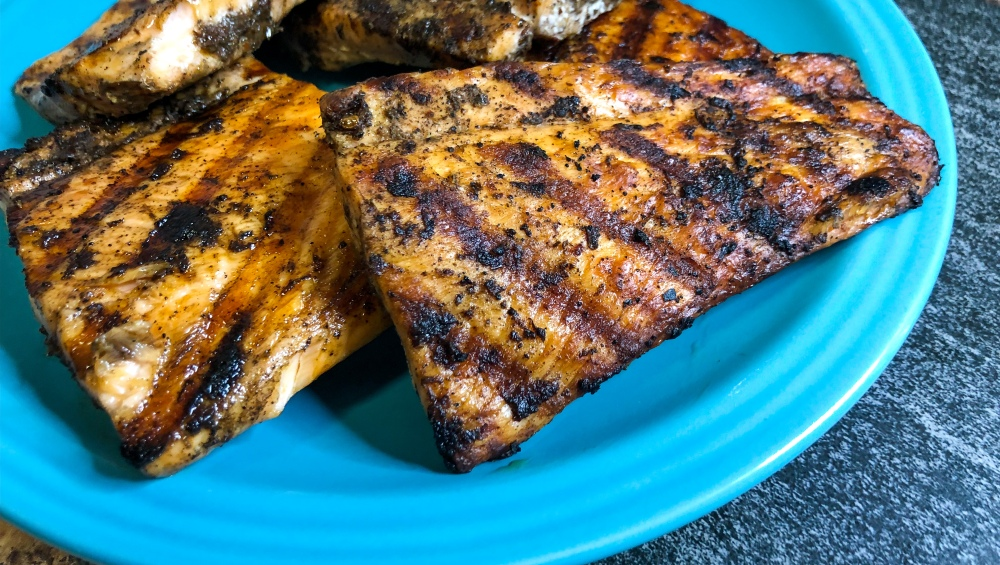 Grilled Jerk Salmon